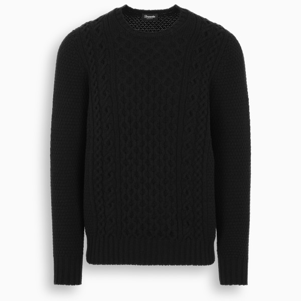 Drumohr Black crewneck sweater