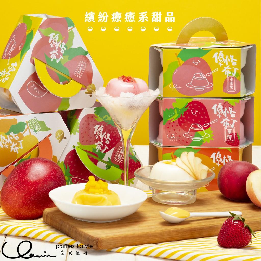 優格布丁-水蜜桃 85g/顆,本包裝6顆