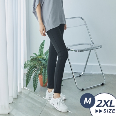 【LANNI 藍尼】現貨 MIT 柔軟修身刷毛窄管纖腿褲(休閒褲/長褲)