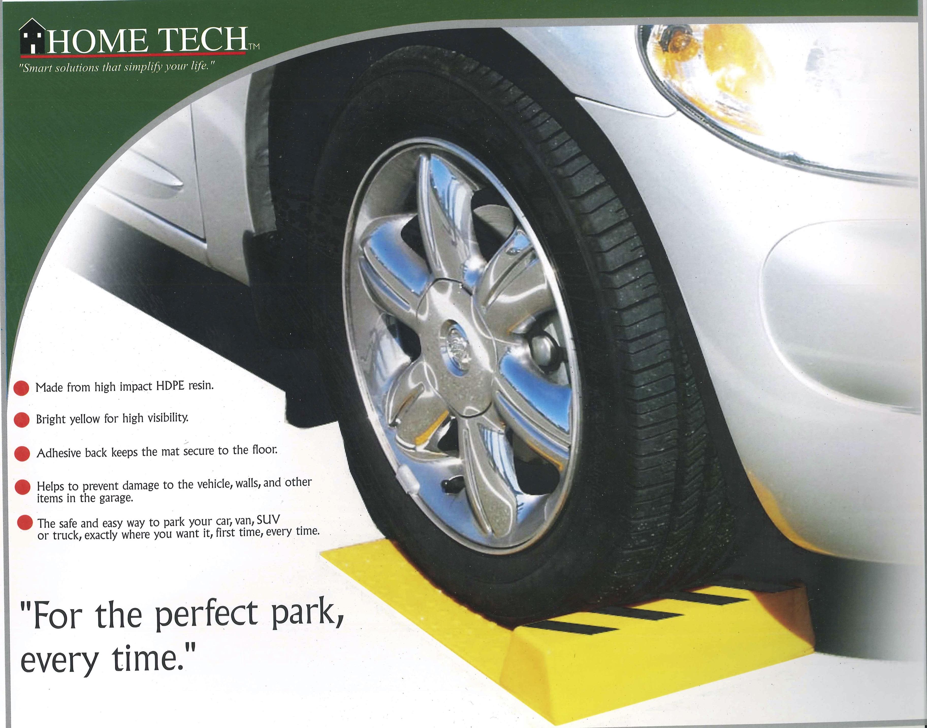 強力塑膠停車擋板 - 不需鑽孔, 只要黏貼.