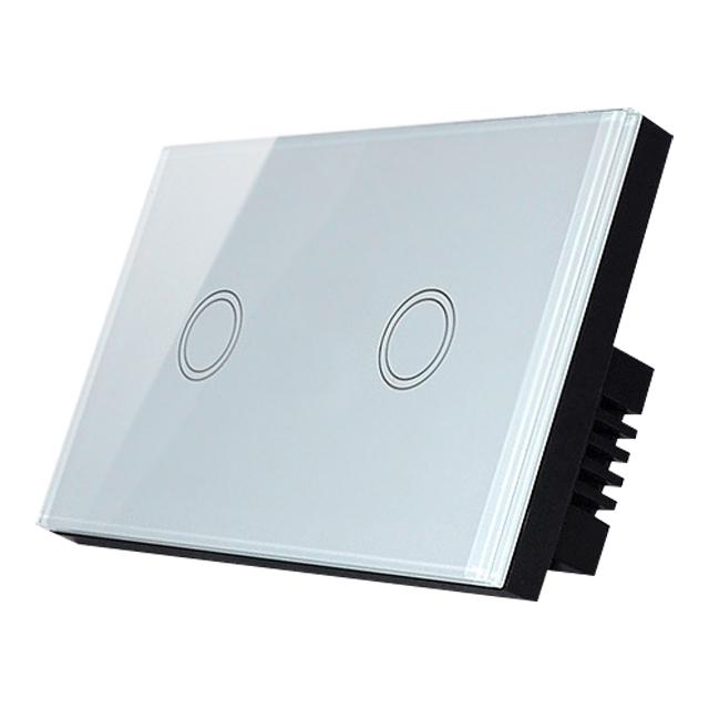 易微聯遠端電燈開關切【台版單火2切】 手機APP遠端無線WIFI遠控網關