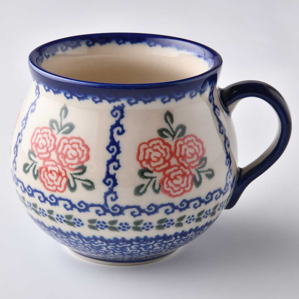 波蘭陶 漫野薔薇系列 胖胖杯 馬克杯 咖啡杯 水杯 400ml 波蘭手工製