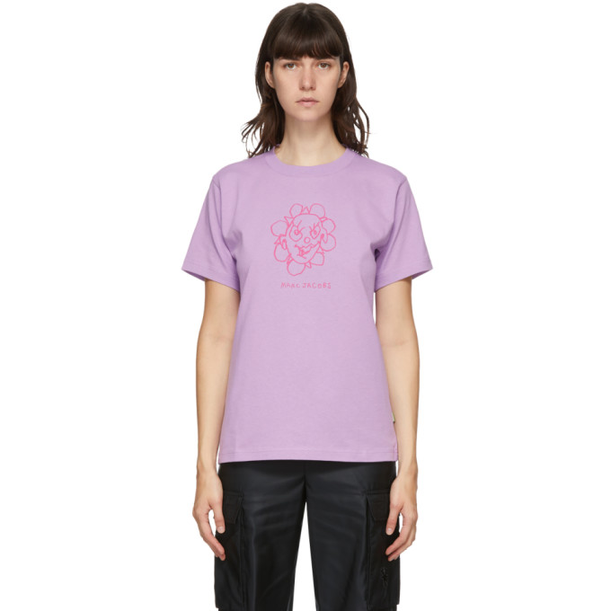 Marc Jacobs 紫色 Heaven by Marc Jacobs 系列 Crazy Daisy T 恤
