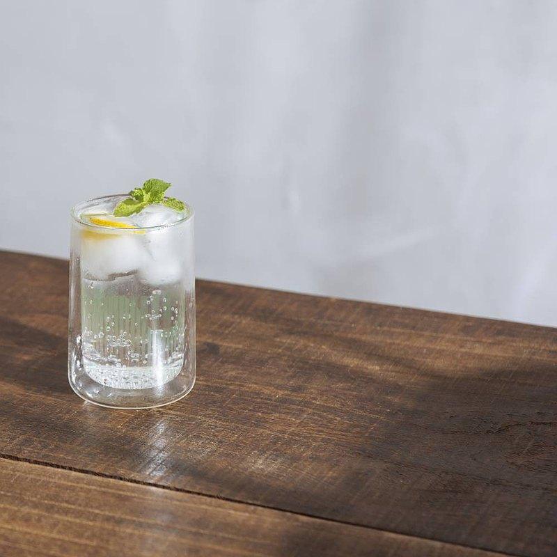 大山雙層玻璃杯(午後青)
