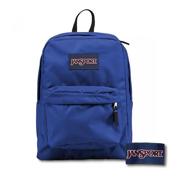 【南紡購物中心】【JANSPORT】SUPERBREAK系列後背包 -風暴藍(JS-43501)