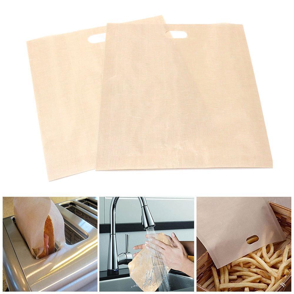 烤麵包機袋烤芝士三明治可重複使用的不粘袋優質麵包用F0U7