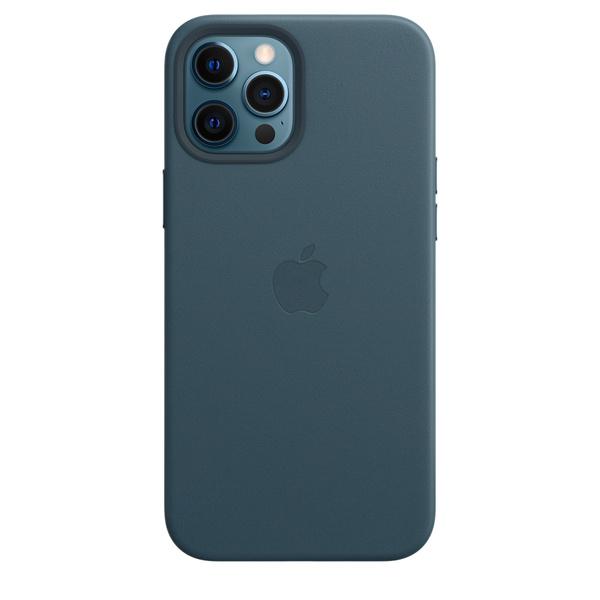 iPhone 12 Pro Max MagSafe 皮革保護殼 - 波羅的海藍色
