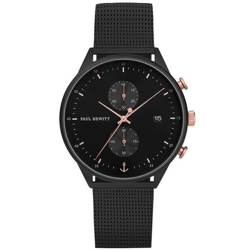 【PAUL HEWITT】德國工藝 Chrono Line 簡約風格計時腕錶 PH-C-B-BSR-5M