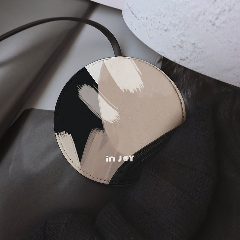 低調中性幾何色塊 輕薄 皮革工藝10W快充無線充電器