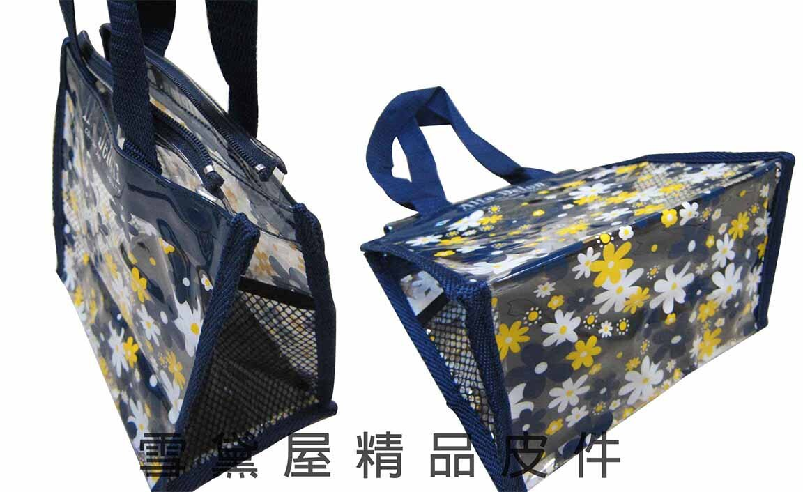 限時 滿3千賺10%點數↘ | ~雪黛屋~Alfa 提袋台灣製造品質保證手提肩背小巧購物袋外出游泳簡單便當袋透明防水PVC材質百搭款#0600