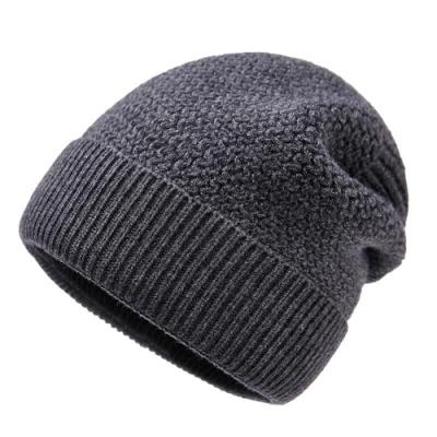 米蘭精品 羊毛帽針織帽-條紋純色加厚包頭男帽子情人節生日禮物3色73wj9