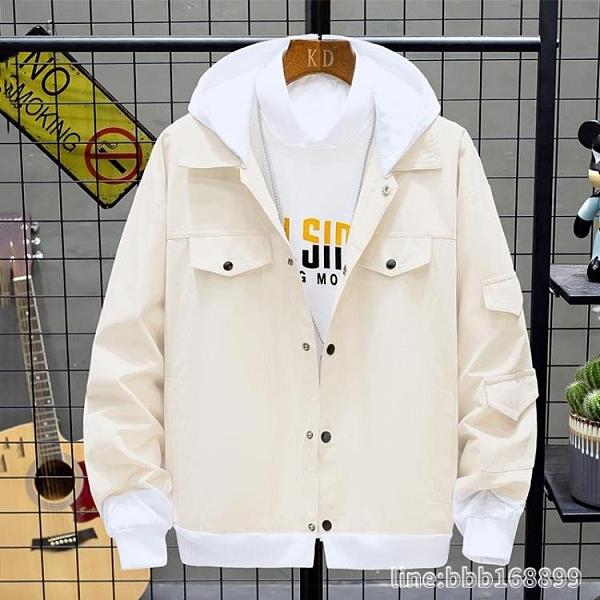 男生外套 秋季牛仔夾克男士韓版修身工裝夾克潮流男裝棒球服春秋款上衣外套 瑪麗蘇