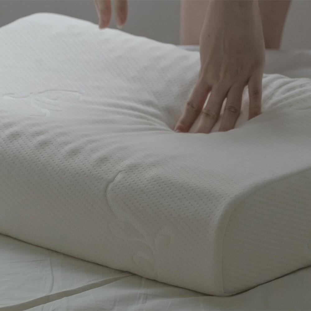 hoi! 泰式純天然乳膠枕 58cmx35cm 透氣性好支撐性佳棉床本舖