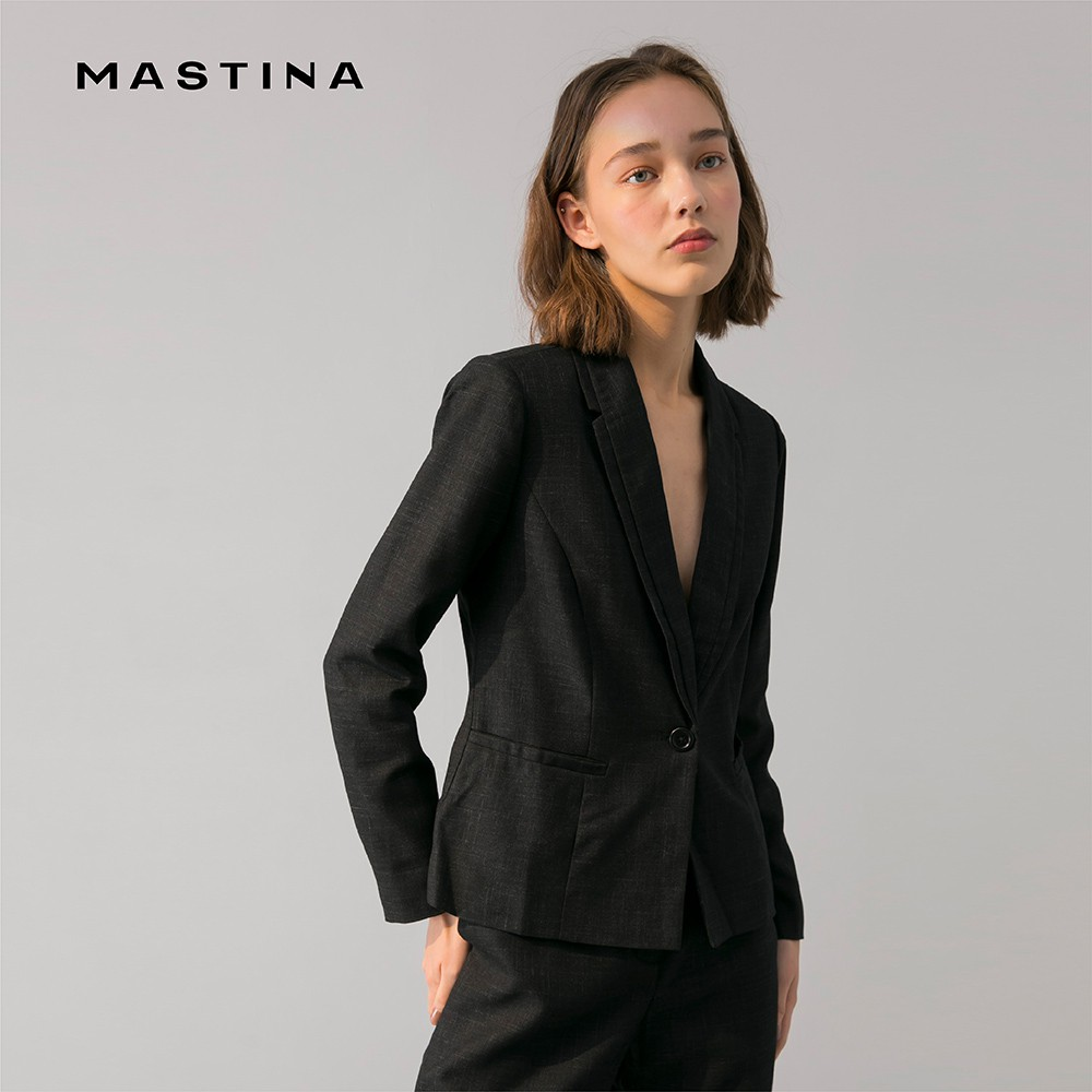 【MASTINA】女伶休閒西裝-外套(黑色/版型合身)