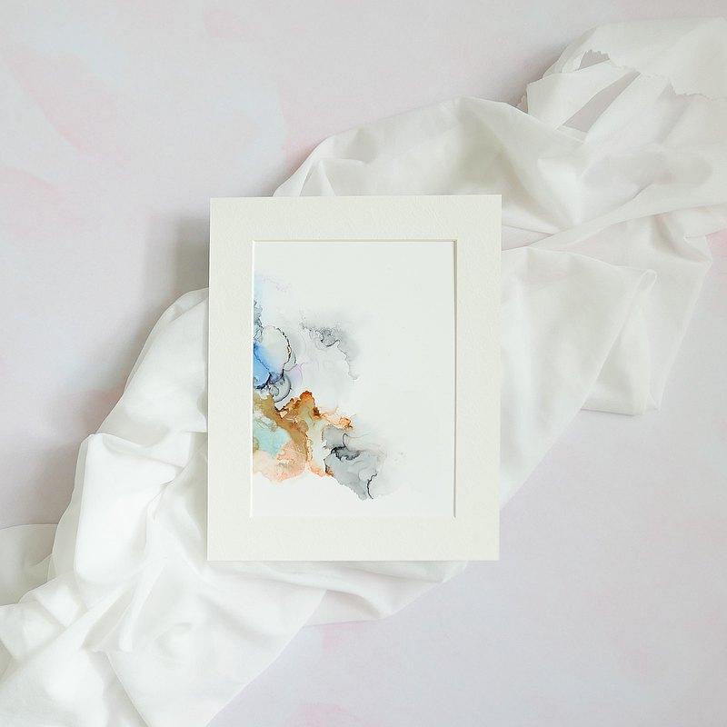 夢想2 抽象畫 家居佈置 裝飾 禮物 簡約主義 手繪原畫作 A5