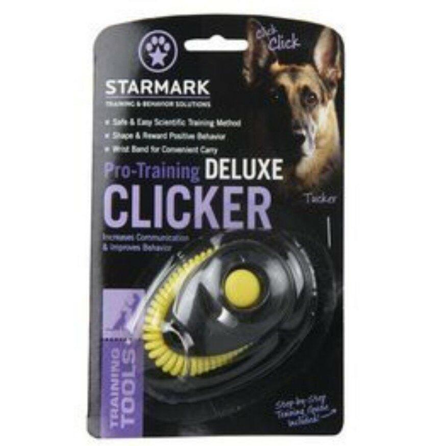 美國STARMARK星記 訓練用響片 響板 Clicker Deluxe( 附手環)有效訓練愛犬行為 居家訓練 基本服從