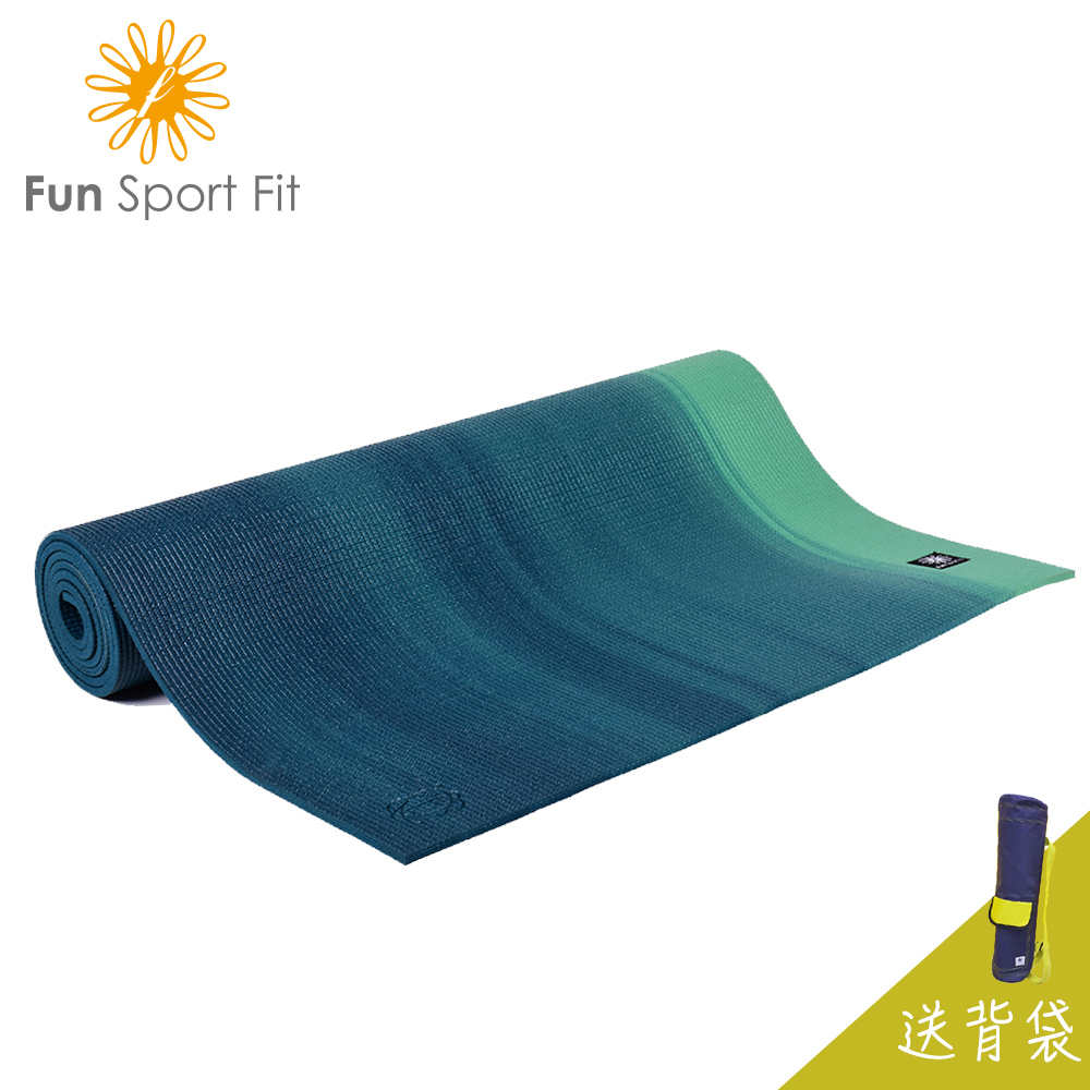 雲之境-深呼吸專業瑜珈墊(6mm) 漸層綠-送吉尼亞瑜珈背袋 (運動墊/體適能墊/瑜伽墊) Fun Sport fit-★SGS檢驗合格-甲醯胺低於200ppm★