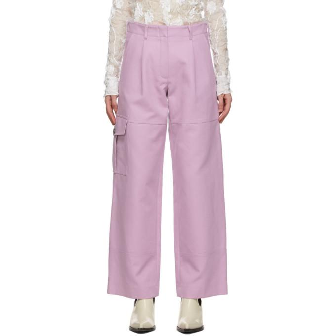 Nina Ricci 粉色斜纹工装裤