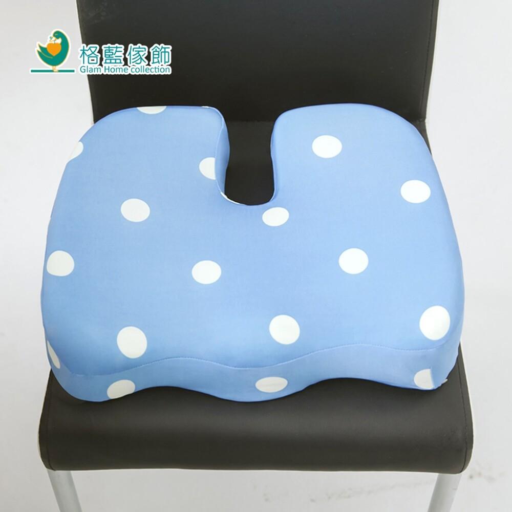 hoi! 格藍傢飾水玉涼感舒壓美臀墊-蘇打藍