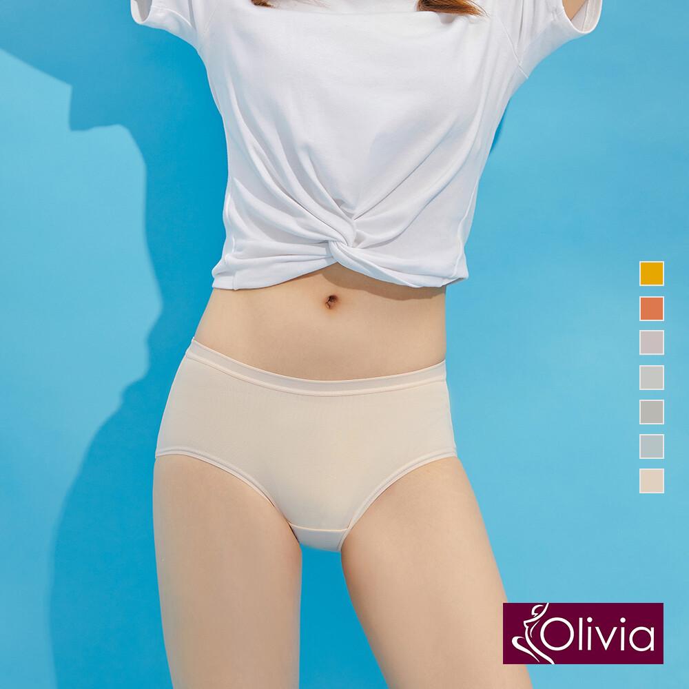 olivia純棉溫感中腰內褲
