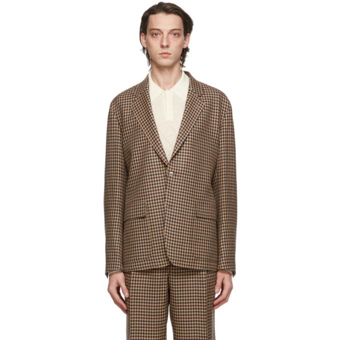 Mackintosh 驼色 Cupar 格纹西装外套