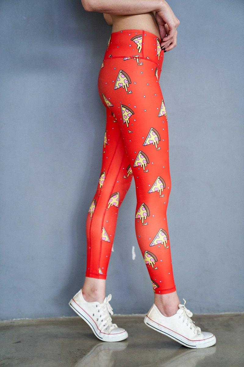 FreshLemon褲子-披薩(橙紅色)