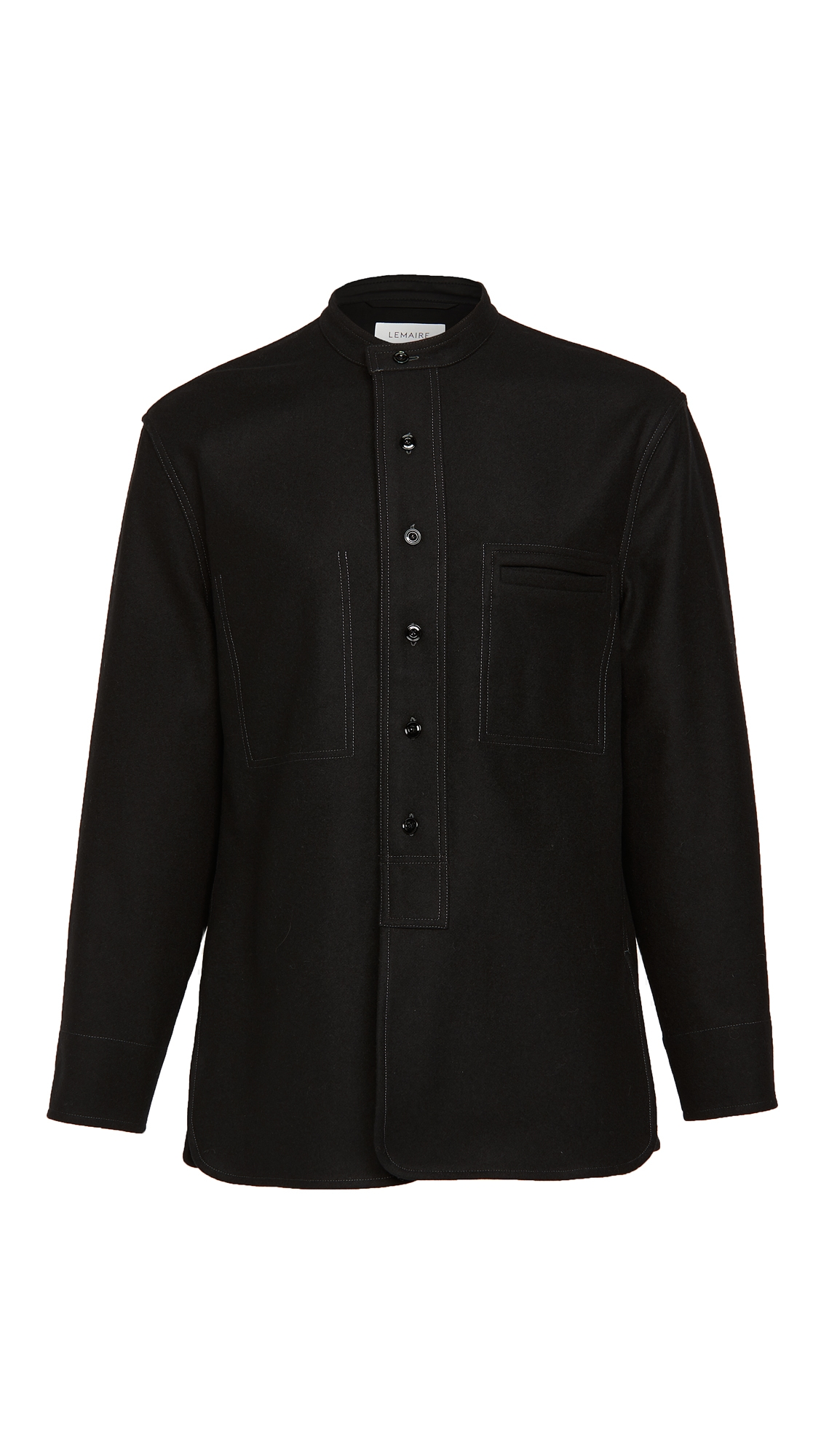 Lemaire Light Felted Wool Long Overshirt