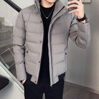 青少年加厚棉服男士外套潮絨服男冬季休閒立領短款上衣 歌莉婭