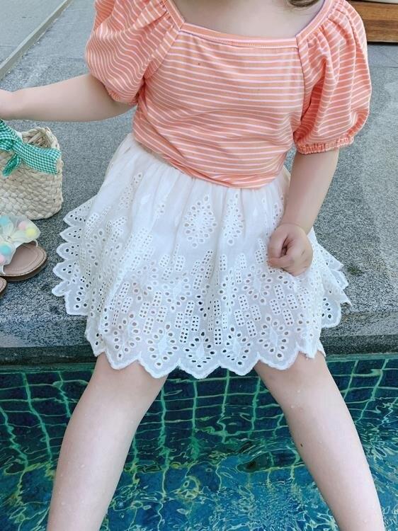 童裝2020新款兒童復古洋氣短裙女童夏季半身裙寶寶韓版裙子
