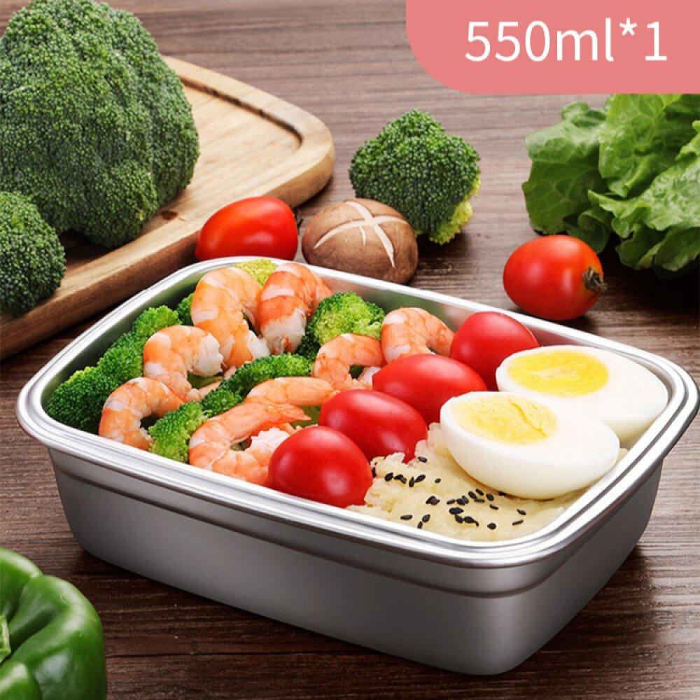 韓式超好扣304不鏽鋼密封保鮮盒-550ml