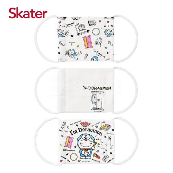 Skater 兒童紗布口罩(3枚/包)-哆啦A夢(3-10歲適用)[衛立兒生活館]