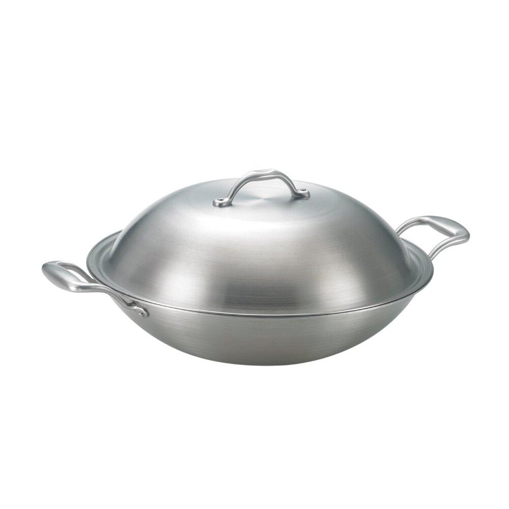 SanYeh三葉頂級316不鏽鋼健康概念養生38cm雙耳美式平炒鍋