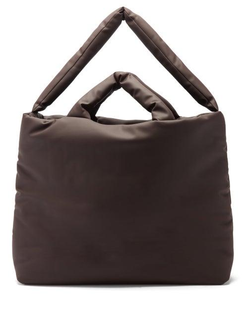 Kassl Editions - Rubber Large Padded Tote Bag - Mens - Dark Brown