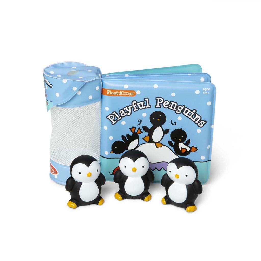 美國 瑪莉莎 Melissa & Doug 洗澡玩具書-調皮企鵝