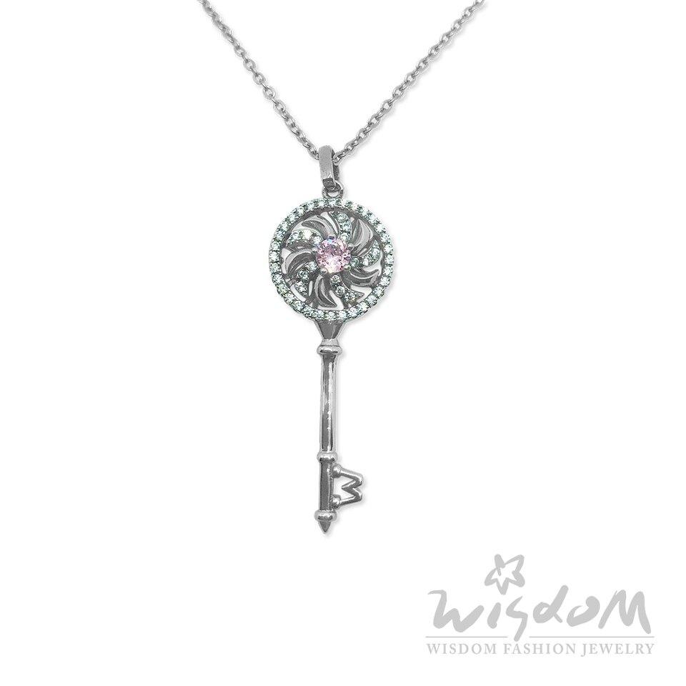 威世登時尚珠寶-幸福靈鑰純銀墜飾(附鋼鍊) 甜美亮眼 禮物推薦 ZSD00002-BHHX