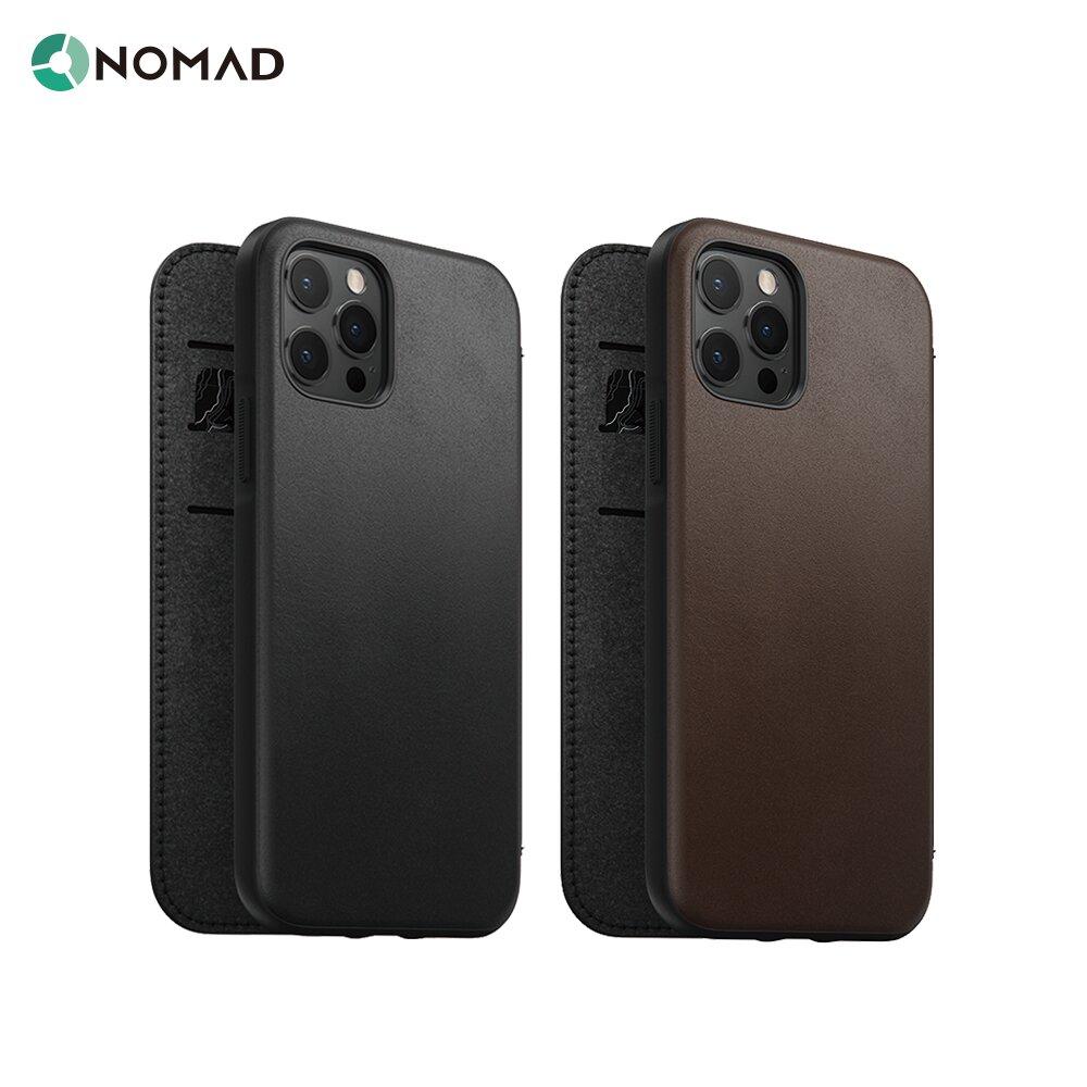 """美國NOMAD經典皮革側掀保護套- iPhone 12 Pro Max (6.7"""")"""