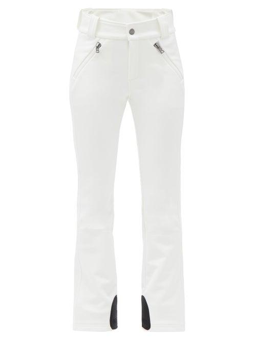 Bogner - Haze High-rise Soft-shell Boot-leg Ski Trousers - Womens - White