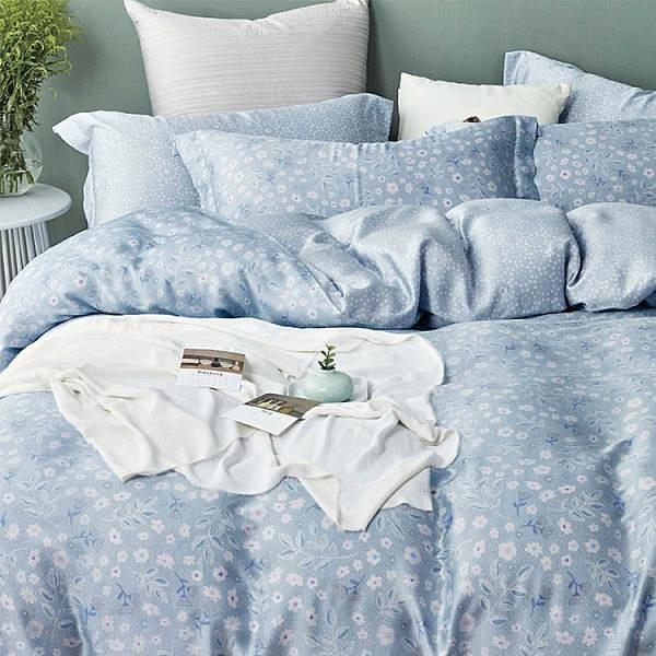 【南紡購物中心】【Indian】100%純天絲雙人兩用被床包四件組-若柔
