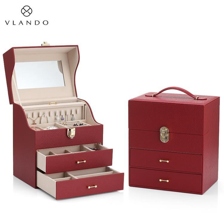 【現貨85折領劵雙折】首飾收納盒 唯蘭朵首飾盒公主歐式韓國飾品收納大容量古風中國風收納結婚禮物