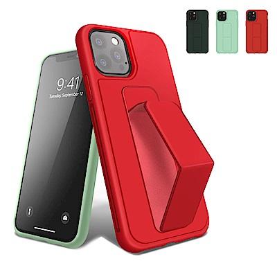 iPhone 12 Pro 強力磁吸 純色 立架 支架 手機殼 保護套-綠色*1