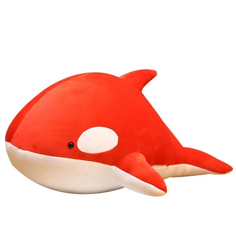 可愛虎鯨公仔毛絨玩具女生抱著睡覺鯨魚玩偶