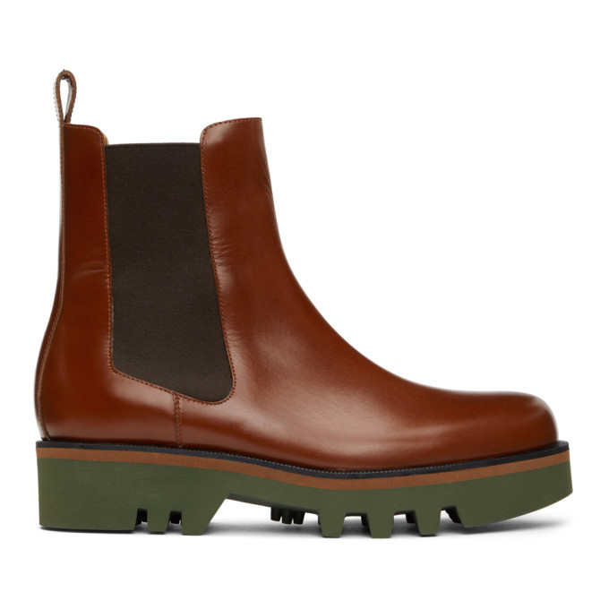 Dries Van Noten 黄褐色切尔西靴