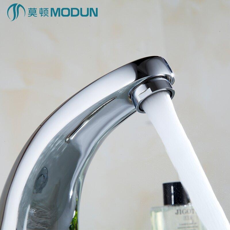 11.11 莫頓精銅智慧單冷感應水龍頭全自動紅外線感應式洗手器面盆龍頭