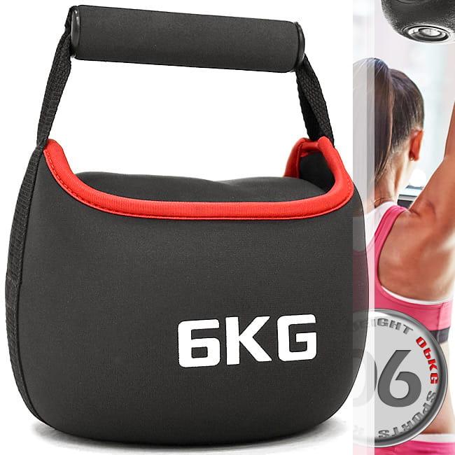KettleBell安全軟式6公斤壺鈴(旋轉握把)(運動6KG壺鈴競技/負重沙包沙袋/拉環啞鈴沙球)