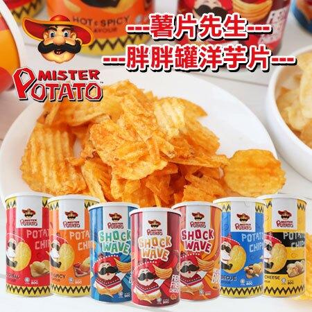 馬來西亞 Mister Potato 薯片先生 胖胖罐洋芋片 洋芋片 波浪洋芋片 薯片 零食 團購 MAMEE【N601665】