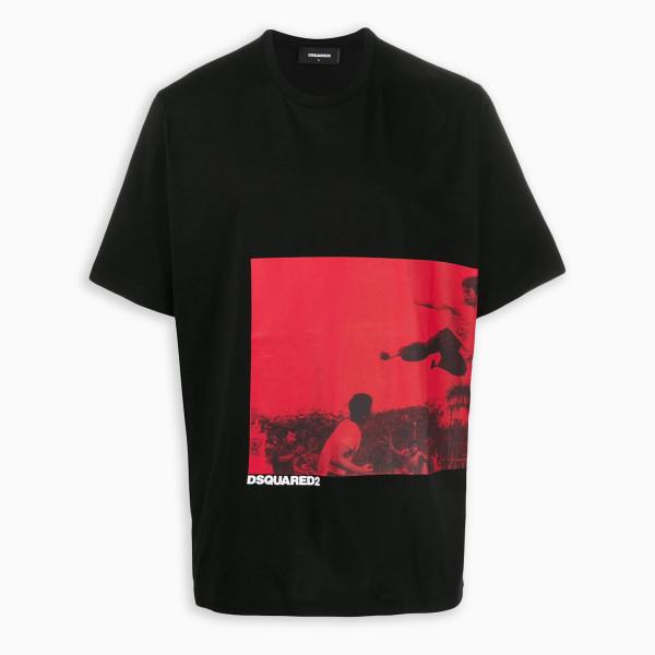 Dsquared2 Black t-shirt wit graphic print