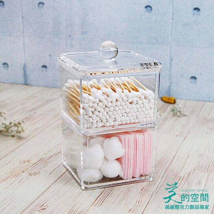 收納盒/收納罐/台灣製造壓克力-雙層方型