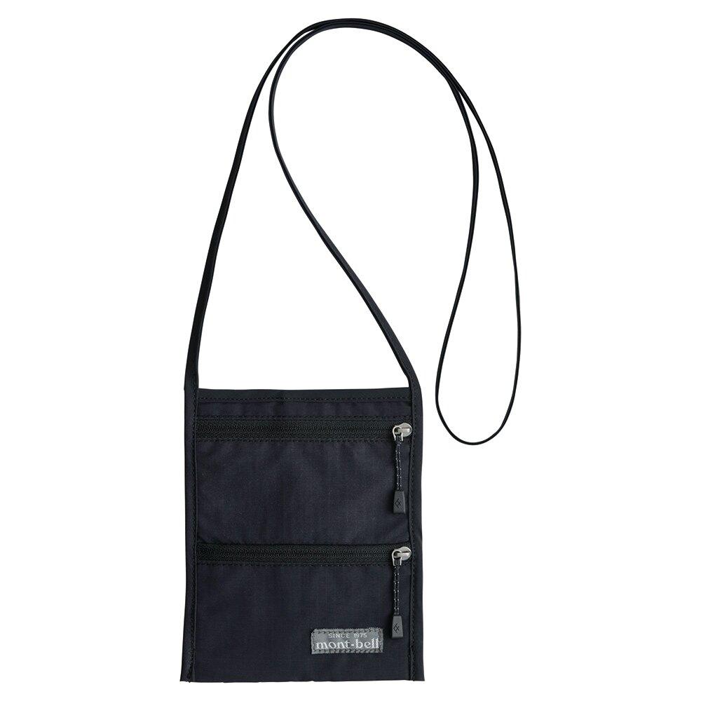 【【蘋果戶外】】mont-bell 1133108 BK 黑【護照套】PASSPORT POUCH 頸掛旅行證件袋 隨身包防盜