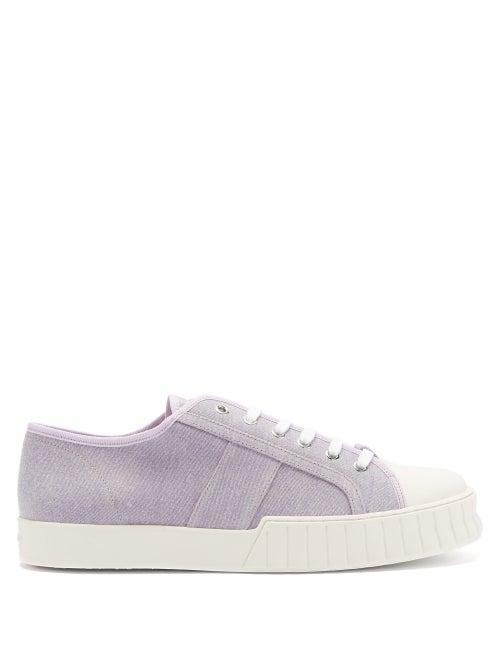 Primury - Divid Organic Cotton-canvas Trainers - Mens - Light Purple