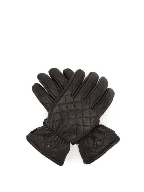 Goldbergh - Nishi Quilted Leather Ski Gloves - Womens - Black